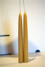 "Handdipped 100% Pure BEESWAX Candles - 8"" in Pairs"