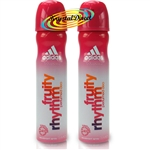 2x Adidas Fruity Rhythm Perfumed Deo Spray 75 ml