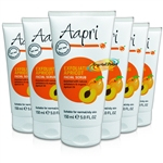 6x Aapri Exfoliating Apricot Face Facial Scrub Cream 150ml - Improved Formula