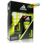 Adidas Pure Game Christmas Gift Set Deo Body Spray & 2In1 Hair & Body Shower Gel