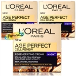 3x Loreal Age Perfect Cell Renew Advanced Restoring Night Face Cream 50ml