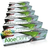6x Optima Aloe Dent Aloe Vera Activated Charcoal Fluoride Free Toothpaste 100ml