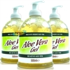 3x Aloe Pura Aloe Vera Gel PUMP 500ml - Cooling Dry Sun Burned Skin