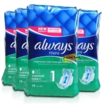 4x Always Maxi Normal With Wings 14 Pads Protection & Comfort