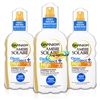 3x Garnier Ambre Solaire Clear Protect Sun Spray 200ml SPF30