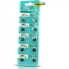 Zhongli Alkaline Button Cell Batteries 10 AG7- SR927/1.55V