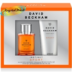 David Beckham Instinct Sport Christmas Gift Set Eau De Toilette Hair & Body Wash