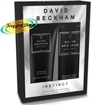 David Beckham INSTINCT Christmas Gift Set Deodorant Spray And Hair & Body Wash