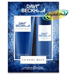 David Beckham Classic Blue 150ml Deodorant 200ml Body Wash