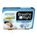 Breathe Right Nasal Strips CLEAR 10 LARGE