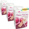 3x Carnation Fleecy Adhesive Web Roll 7.5cm x 75cm Foot Friction Pressure Relief
