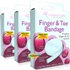 3x Carnation Finger & Toe Injuries Protect Tubular Bandage 4m Roll Refill Pack