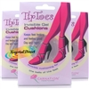 3x Carnation Tip Toes Invisible Gel Ball Of Foot Cushions 1 Pair Fit Most Shoes