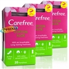 3x Carefree Aloe 20 Pantyliners Lightly Scented