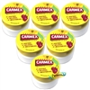 6x Carmex Cherry Moisturising Lip Balm 7.5 g SPF 15 Relief From Dry Chapped Lips