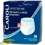 Caroli Incontinence Hygiene 10 Pants Unisex Large Underwear Pull Up Pants