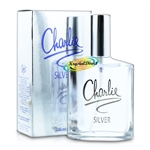 3x Revlon Charlie Silver Eau De Toilette 100ml Spray EDT Perfume Gift For Her