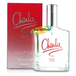 3x Revlon Charlie Red Eau Fraiche 100ml Spray EDF Perfume Gift For Her