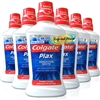 6x Colgate Plax Sensation White Mouthwash 500ml - Zero Alcohol