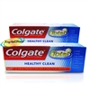 2x Colgate Healthy Clean Antibacterial Fluoride Toothpaste 25ml Travel Size