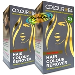 2x Colour B4 Ammonia Bleach Free Permanent Hair Colour Dye Remover Kit Extra