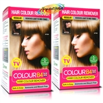 2x Colour B4 Ammonia Bleach Free Permanent Hair Colour Dye Remover Kit Regular