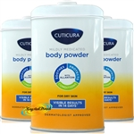 3x Cuticura Mildly Medicated Talcum Powder with Skin Soothing Allantoin 250g