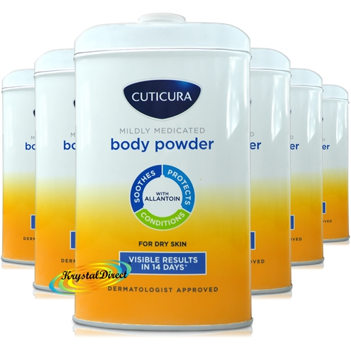 6x Cuticura Mildly Medicated Talcum Powder with Skin Soothing Allantoin 250g