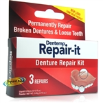 Dentemp Repair It Zinc Free Emergency Dental Repair Broken Dentures Kit