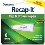 Dentemp Recapit Eugenol Free Repair Loose Caps & Crowns No Mix Dental Cement 1g