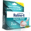 Dentemp Reline It Zinc Free Soft Loose Fitting Denture Reliner Kit 2 Repairs