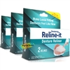 3x Dentemp Reline It Zinc Free Soft Loose Fitting Denture Reliner Kit 6 Repairs
