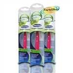 3x Dentek Tongue Cleaner Scraper Fresh Mint Remove Bad Breath & Bacteria