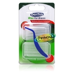 DenTek Fresh Mint Wax For Braces Relieves Bracket & Wire Irritation Twin Pack
