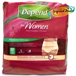 Depend Incontinence 9 Pants Women Female Super Large Underwear