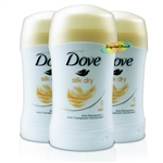 3x Dove Anti Perspirant Deodorant Body Deo Silk Dry Stick 40ml 48H Protection