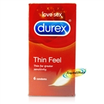 Durex Fetherlite Ultra Thin Feel 6 Natural Latex Condoms Greater Sensitivity