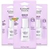3x Elegant Touch Brush on Nail Glue Clear 6ml Strong Bond