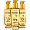 3x LOreal Elvive Extraordinary Oil All Hair Types 100ml With Gift