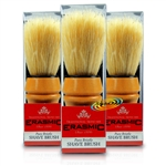 3x Erasmic Superior Quality Pure Natural Bristle Shaving Brush Smooth Close Shave