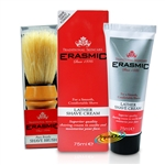 Erasmic Lather Shave Cream 75ml & Natural Pure Bristle Shave Brush