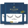 3x Eylure Volume No. 100 Medium False Strip Eyelashes Classic Weightless Feel