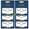 6x Eylure Volume No. 100 Medium False Strip Eyelashes Classic Weightless Feel