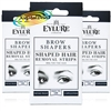3x Eylure Eyebrow Shapers
