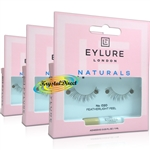 3x Eylure Naturals No. 020 False Strip Eyelashes Natural Look Weightless Feel