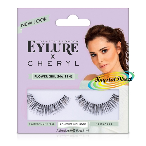 21023951df7 Eylure Cheryl Lengthening No. 114 Medium False Strip Eyelashes Lightweight