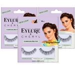 3x Eylure Cheryl Lengthening No. 114 Medium False Strip Eyelashes Lightweight
