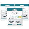 3x Eylure Volume No. 101 Round False Strip Eyelashes Full Lash Lightweight