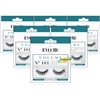 6x Eylure Volume No. 101 Round False Strip Eyelashes Full Lash Lightweight