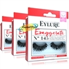 3x Eylure Exaggerate Eyelashes No. 145